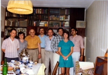 ИПУ,1984г. (сл.напр.: А.В.Малишевский,  З.И.Лезина,  М.А.Айзерман, В.И.Вольский,  Л.А.Тененбаум,  Чарльз Плотт (США), Марина Плотт(США), Ф.Т.Алескеров)
