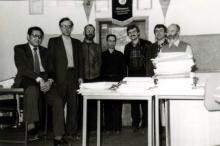 Мужская часть лаборатории  (начало 80-х)