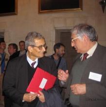 Ф.Т. Алескеров с Нобелевским лауреатом, профессором Гарвардского Университета (США) Амартьей Сеном