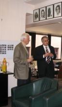 Ф.Т. Алескеров с президентом Европейского Центра по эконометрике и исследованиям операций Клодом  д'Апремоном (Бельгия)