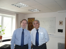 Ф.Т. Алескеров с профессором Университета Турку (Финляндия) Ханну  Нурми в Москве,  в ВШЭ