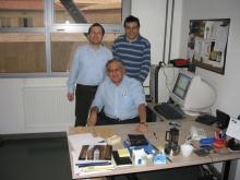 Ф.Т. Алескеров с учениками: Ремзи Санвером (ректором Университета Бильги, Турция) и Гекселем Ашаном (проректором того же университета)