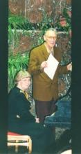 Романс в честь 40-летия лаборатории. Л.А. Гусев с супругой. ИПУ 2002г.